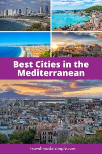 The Mediterranean Sea is a diverse region that spans from southern Europe to northern Africa to the Middle East. Check out this guide to some of the best cities in the Mediterranean for your next vacation. | where to go in the Mediterranean | best cities in the Mediterranean | Mediterranean cities to visit | travel tips | travel planning