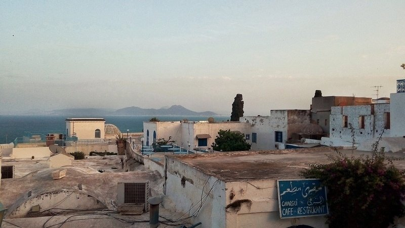 best cities to visit on the Mediterranean Sea - Sidi Bou Said near Tunis