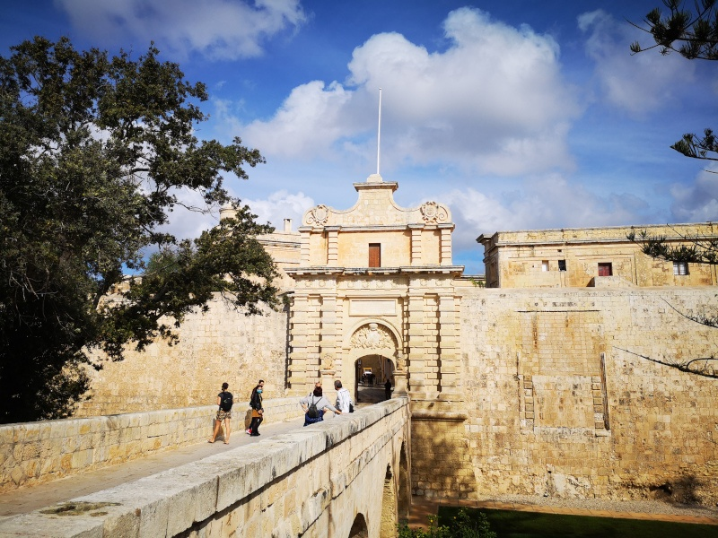 Malta Mdina Gate - covid travel planning
